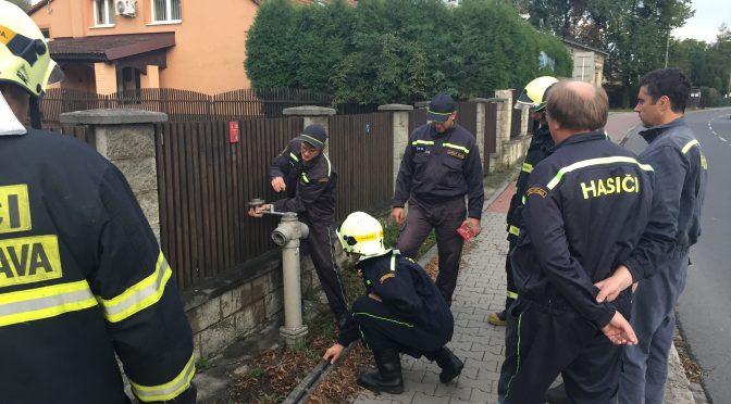 Zkouška požárních hydrantů