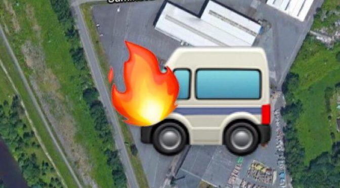 Požár dodávky