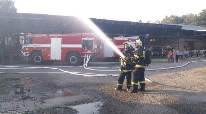 Požár zemědělské budovy, TC