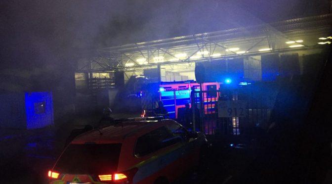 Požár unimobuňky